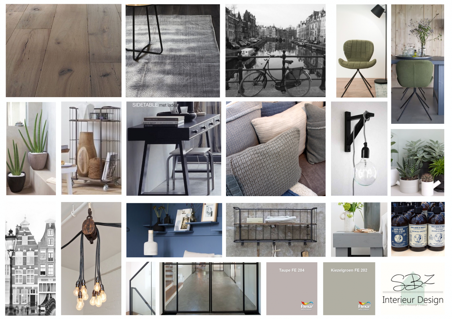 moodboard sbz interieur design t b v loft kinkerstraat sbz interieur design. Black Bedroom Furniture Sets. Home Design Ideas