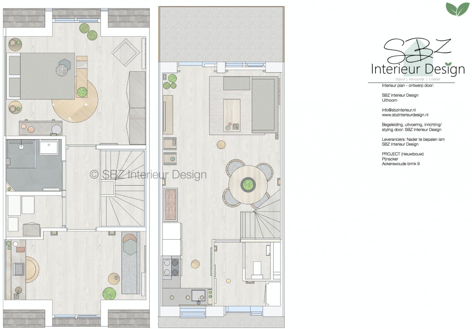 Indelingsplan © SBZ Interieur Design