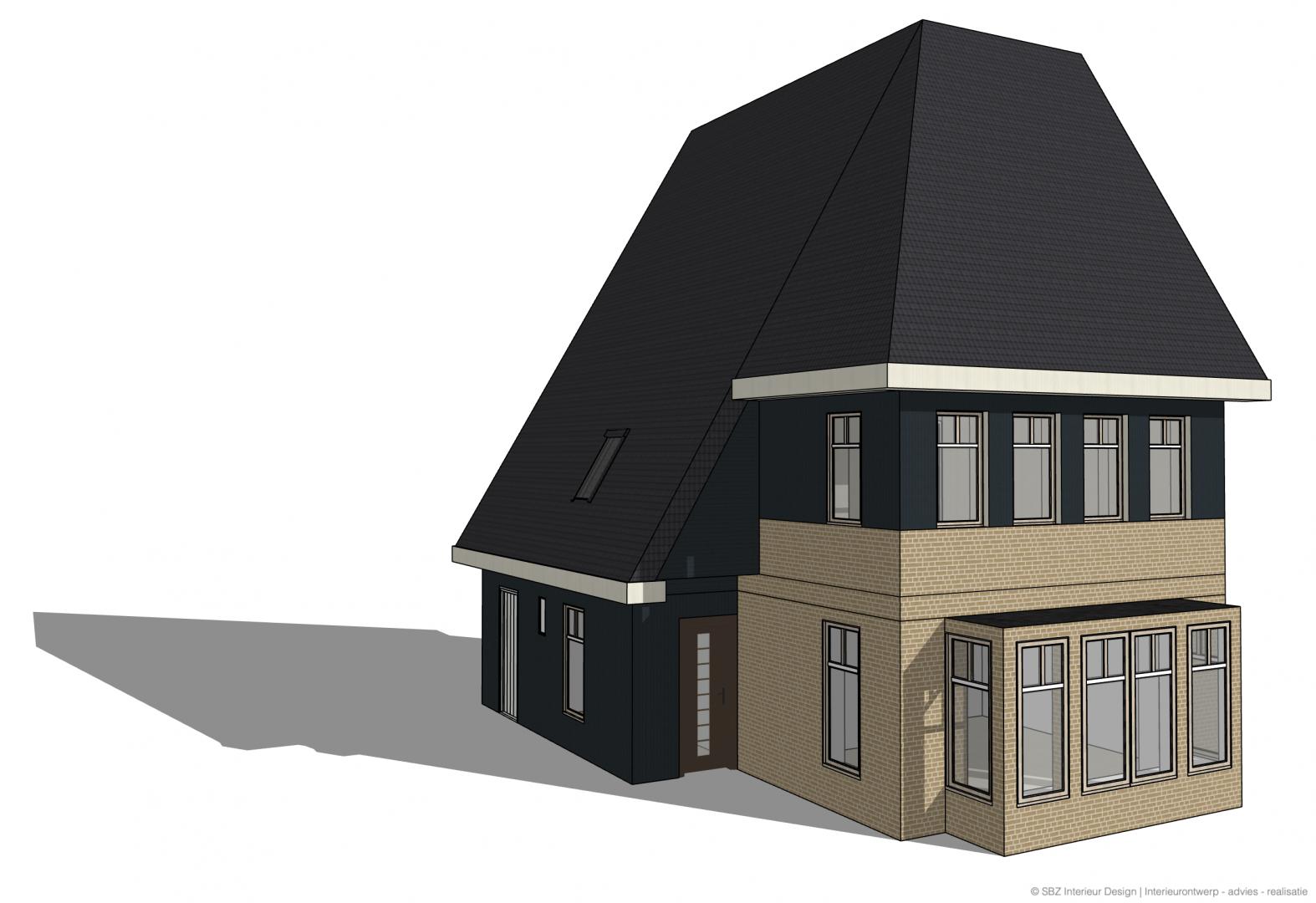 3D impressie buitenzijde project Weespersluis - Susanne-Bolkestein-Zum Vorde-SBZ-Interieur-Design-interieuradvies-binnenhuisontwerp-interieurproject-interieurstyling-sbzinterieurdesign.nl