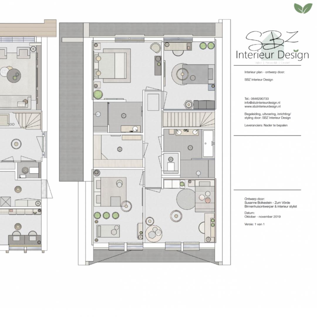 Indelingsplan SBZ Interieur Design